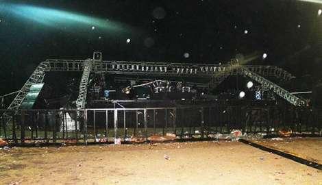 Temporal provocó caída del escenario de Piria Music y daños en stand: hubo heridos leves