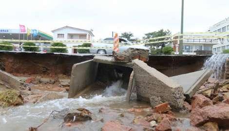 Serios daños en la rambla de Punta del Este a la altura de Parada 16 de Playa Mansa provocó el temporal