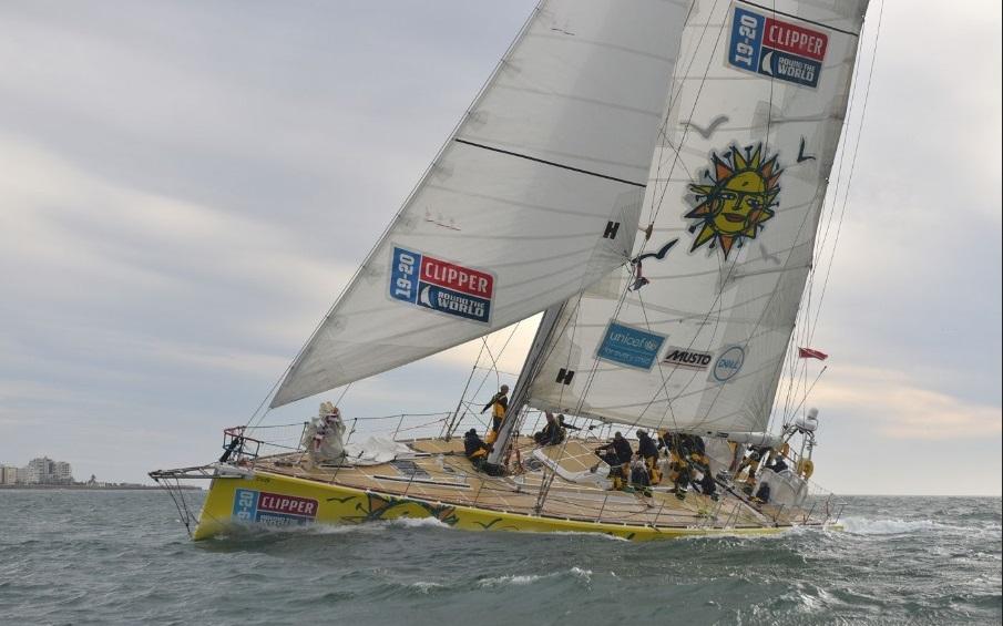 """Arribó a Ciudad del Cabo el velero """"Punta del Este"""" en la 2ª posición de la regata Clipper - maldonadonoticias.com"""