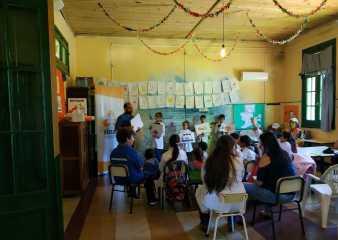 Más de 130 niños de escuelas rurales participaron en talleres sobre prevención de riesgo