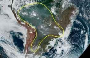Inumet advierte que humo de incendios en la Amazonia pueden llegar a Uruguay