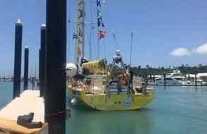 """Zarpa la flota de la regata Clipper desde Whitsundays con el """"Punta del Este"""" 3°"""