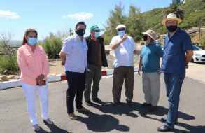 El ministro de Ambiente visitó varios puntos de la costa y planta de Aborgama