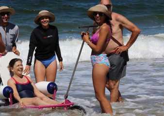 Programa Playa Accesible alcanzó a más de 130 usuarios durante esta temporada