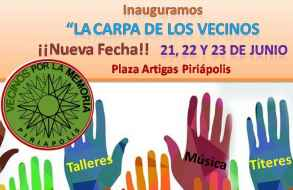 """Inauguran """"La Carpa de los vecinos"""" en plaza Artigas de la ciudad de Piriápolis"""