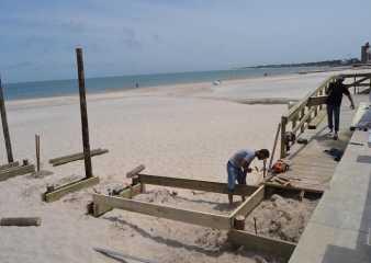 Realizan mejoras en toda la infraestructura de la playa accesible de Piriápolis