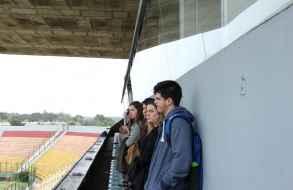 Jóvenes voluntarios del Mundial Femenino Sub 17 visitaron estadio de Maldonado