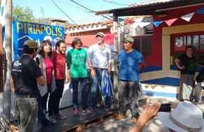 El candidato a la presidencia del Frente Amplio Gonzalo Civila visitó Maldonado