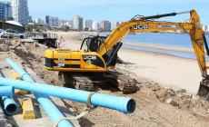 Instalan geotubos a la altura de Parada 7 de la Playa Mansa de Punta del Este