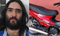 Atraparon a delincuentes que circulaban en moto robada y portando un arma de fuego